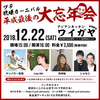 プチ琉球カーニバル!平成最後の大忘年会